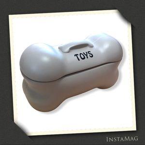TOYS Bone-Shaped Storage Bin w/Lid